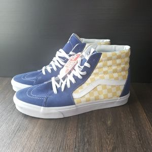 Vans SK8-HI Checkerboard True Blue / Yellow